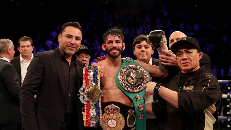 The WBA, WBC Diamond and Ring Magazine titles are on the line