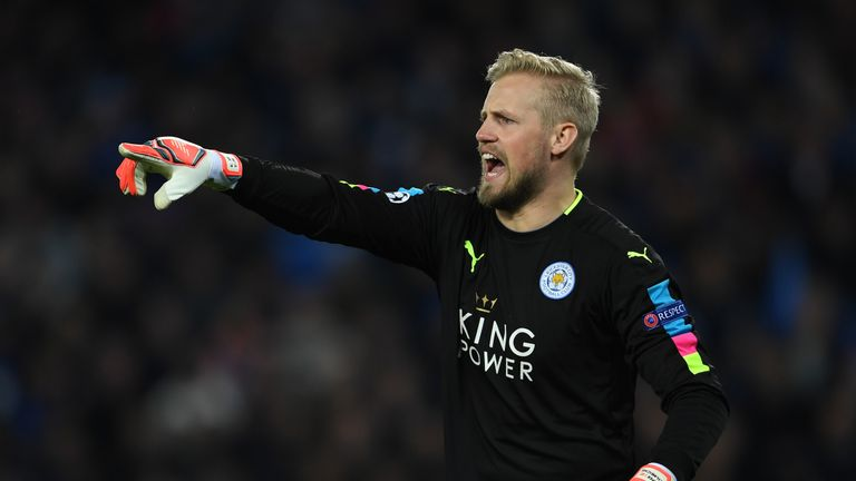 Kasper Schmeichel produced some brilliant saves in the closing exchanges to keep Leicester ahead