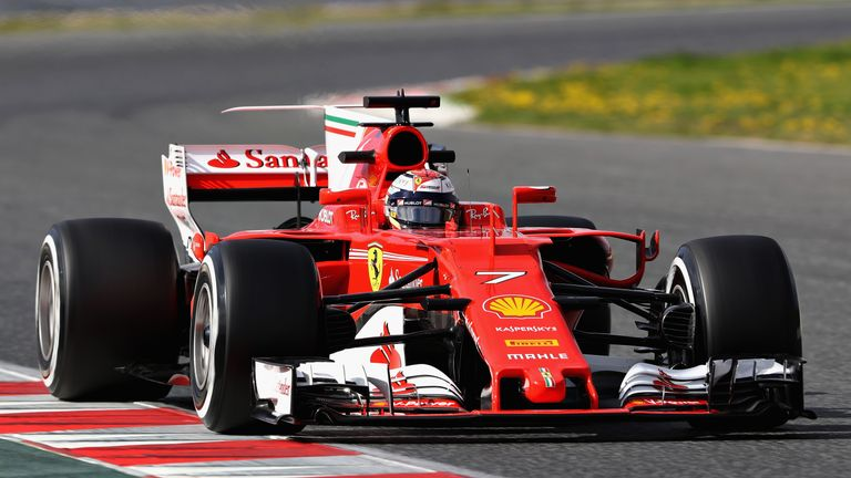 b4821ffe508ff6 Kimi Raikkonen says it's too early to predict whether Ferrari will beat  Mercedes in 2017 but admits they're in a