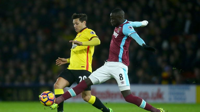 Mauro Zarate joined Watford from Fiorentina in a two-and-a-half year deal last January