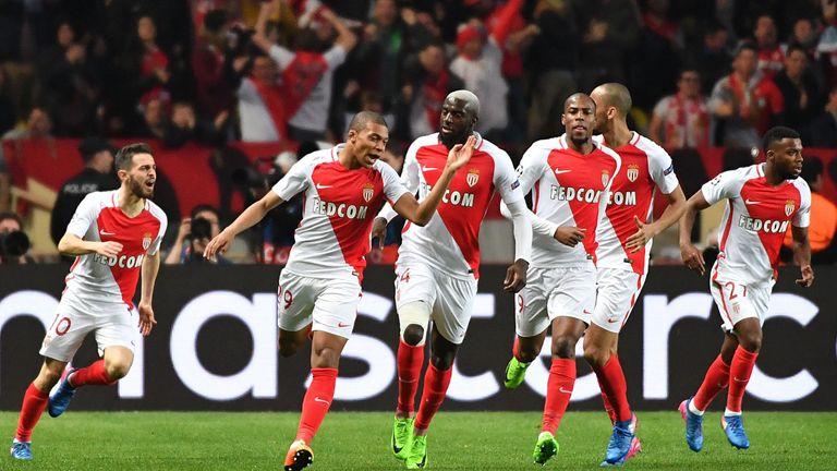 Kylian Mbappe scored Monaco's opening goal on Wednesday