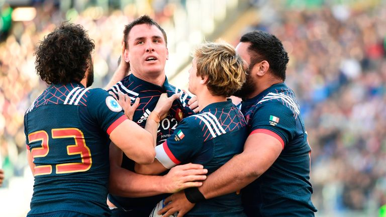 Louis Picamoles scored a try in France's bonus-point win in Rome