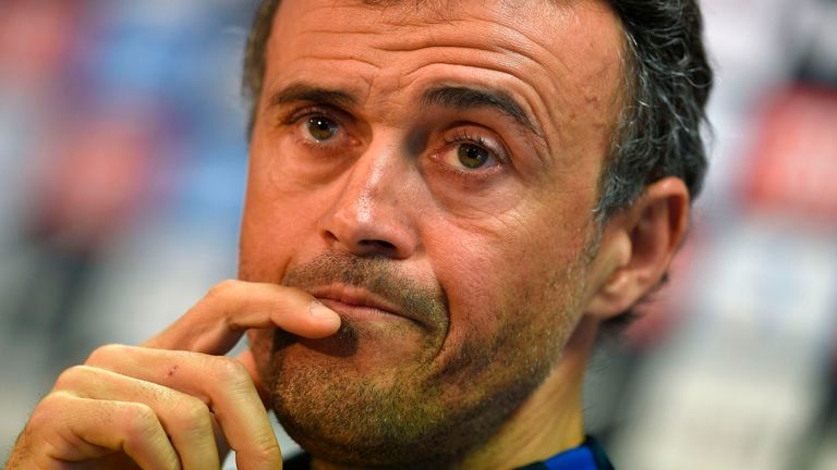 Luis Enrique is without a job after leaving Barcelona in the summer