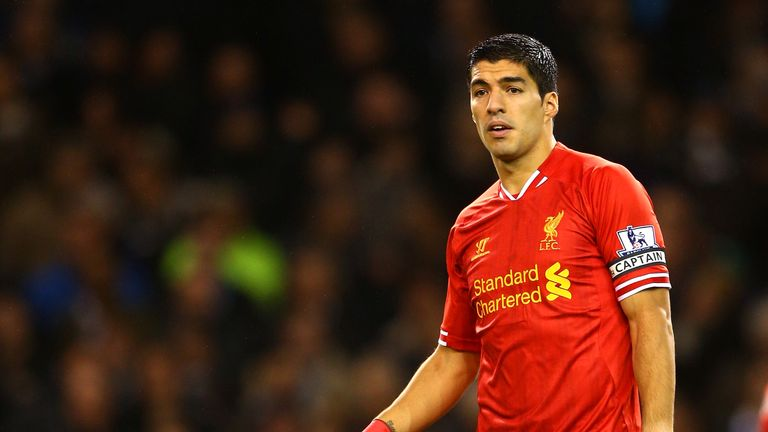 Luis Suarez captained Liverpool to a 5-0 win over Tottenham in 2013