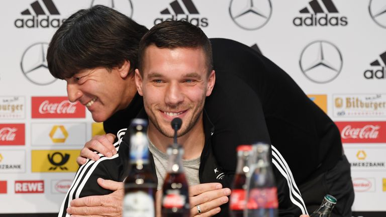 Lukas Podolski will play his final game for Germany