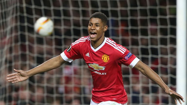 Rashford scored twice on his United debut against Midtjylland  in February 25, 2016