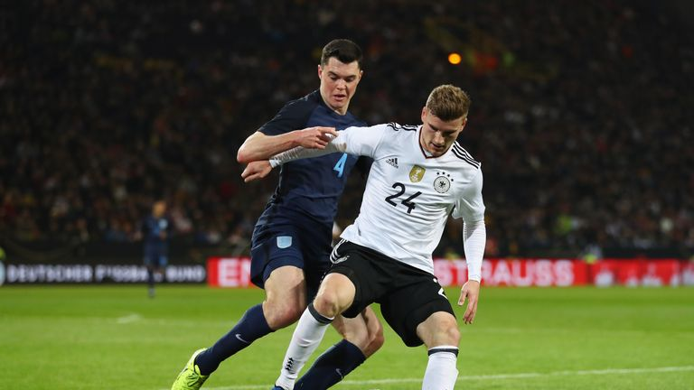 Keane made his England debut against Germany in March