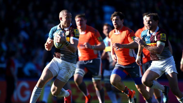 Mike Brown attacks for Harlequins