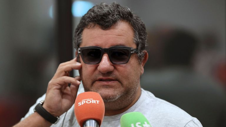 Agent Mino Raiola represents Henrikh Mkhitaryan among other United players