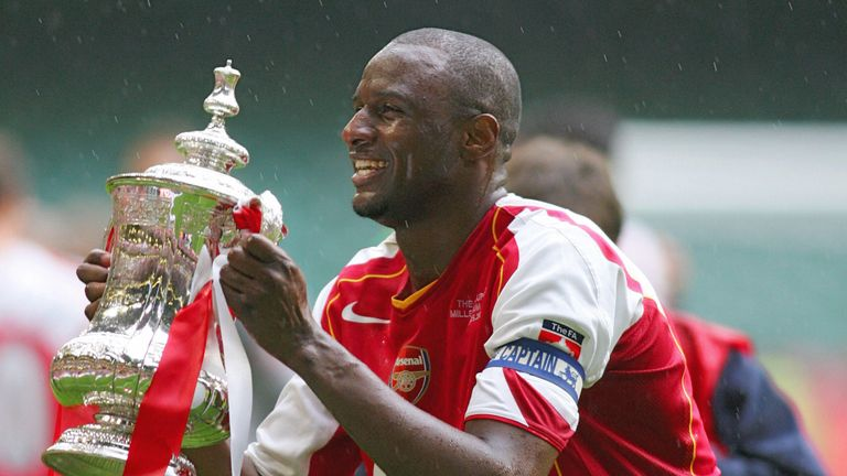 Vieira played for Arsenal for nine years and helped the club to three Premier League titles and three FA Cups