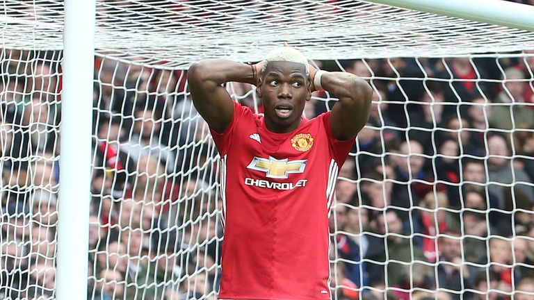 Pogba has scored seven goals for the Red Devils