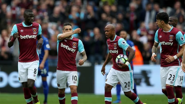 Manuel Lanzini scored a sublime free-kick in the first half for West Ham
