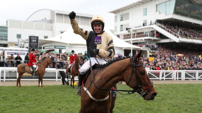 Nichols Canyon after winning at Cheltenham in March