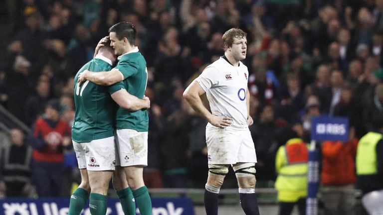 Ireland beat England on the final day of last year's Six Nations to deny Eddie Jones' side the Grand Slam