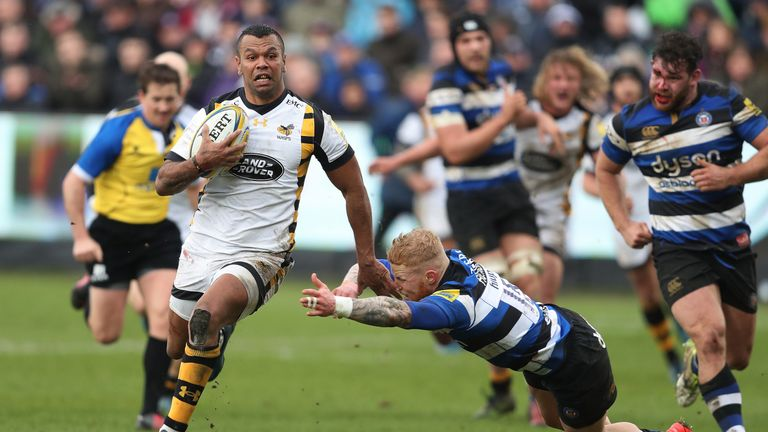 Kurtley Beale has helped Wasps to the top of the Premiership but rejoin the New South Wales Waratahs
