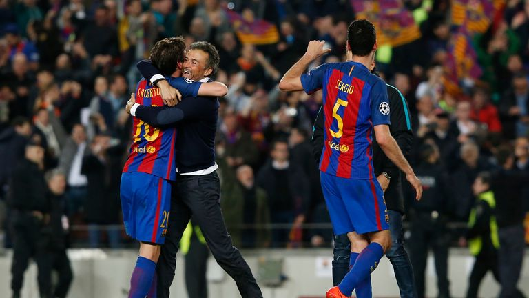 Luis Enrique won the Treble in his first season at Barcelona in 2014/15