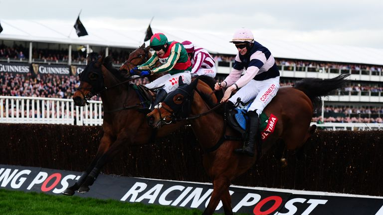 Un Temps Pour Tout (L) got the better of Singlefarmpayment in a thrilling finish to the Ultima