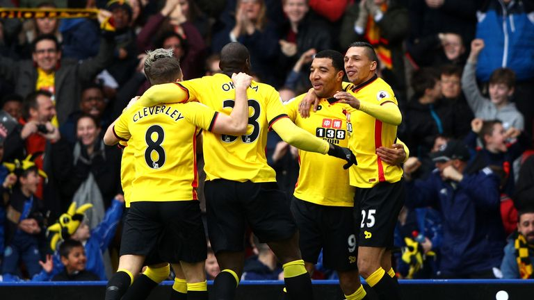 Troy Deeney volleyed Watford into an early lead