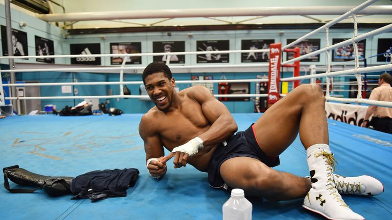 8672cb08645 Anthony Joshua explains his fitness routine when he s not in a ...