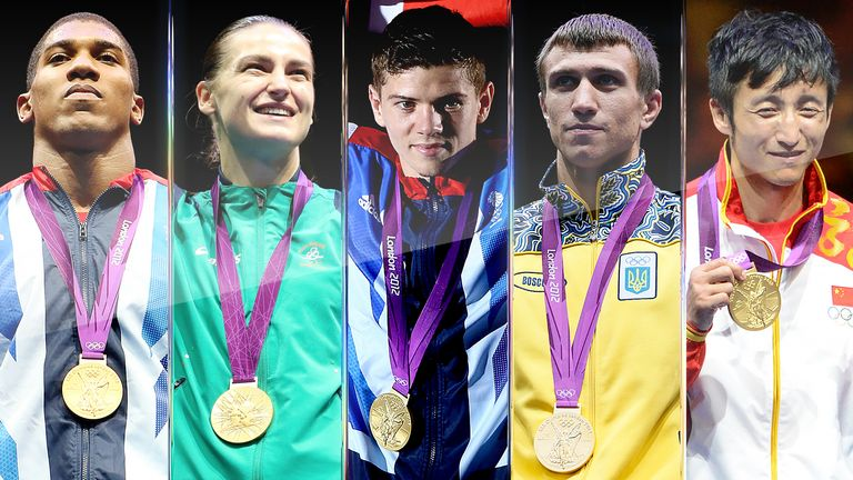 Anthony Joshua was part of an elite crop of fighters who claimed gold at the London 2012 Olympics