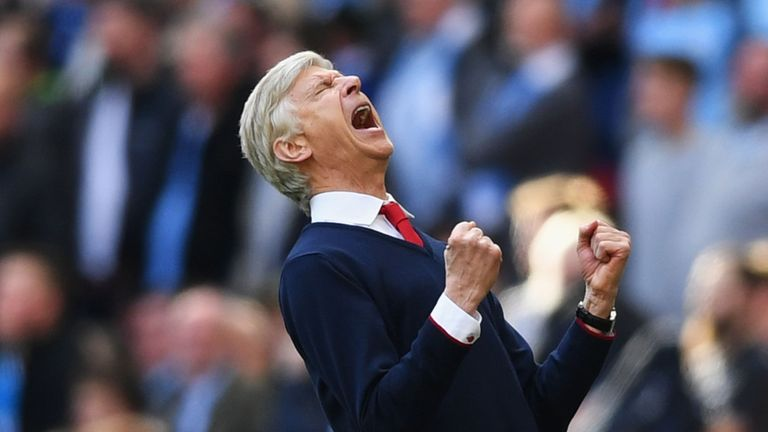 Arsene Wenger could not hide his delight after Arsenal beat Manchester City in extra-time