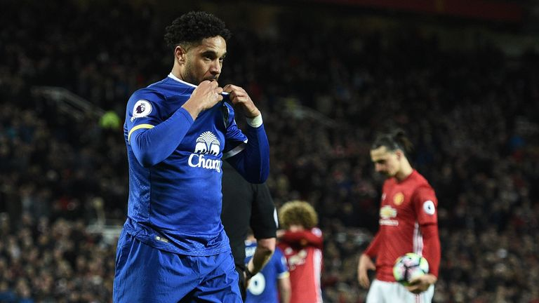 Ashley Williams was sent off for his late handball at Old Trafford