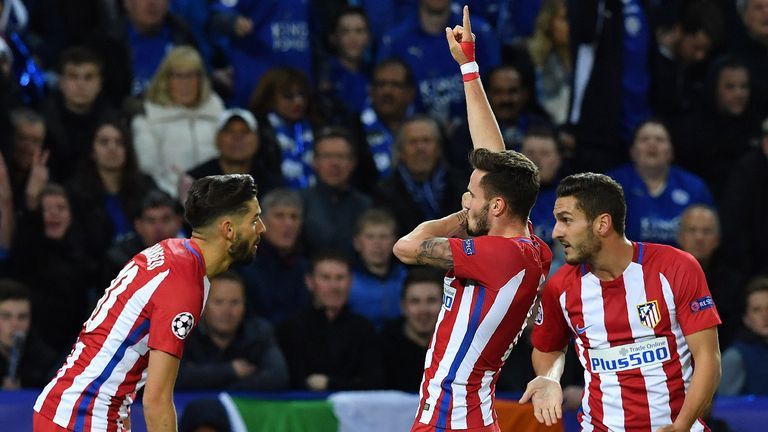 Saul Niguez scored a fine first-half goal for Atletico