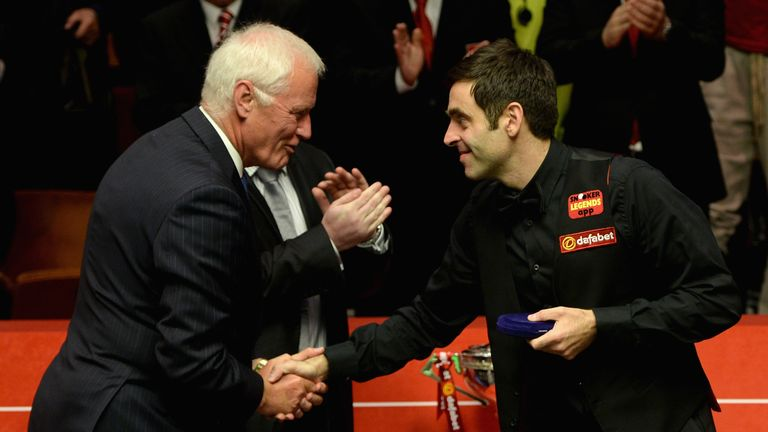 Barry Hearn (L) has issued a denial over claims of bullying and intimidation from Ronnie O'Sullivan