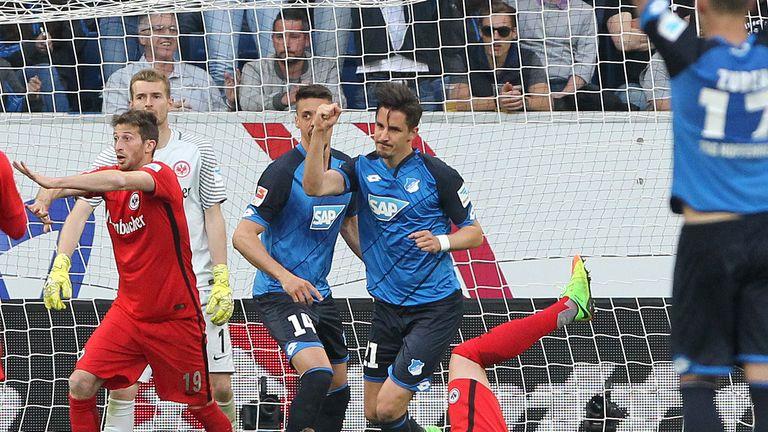 Benjamin Hubner's 90th-minute goal gave Hoffenheim victory