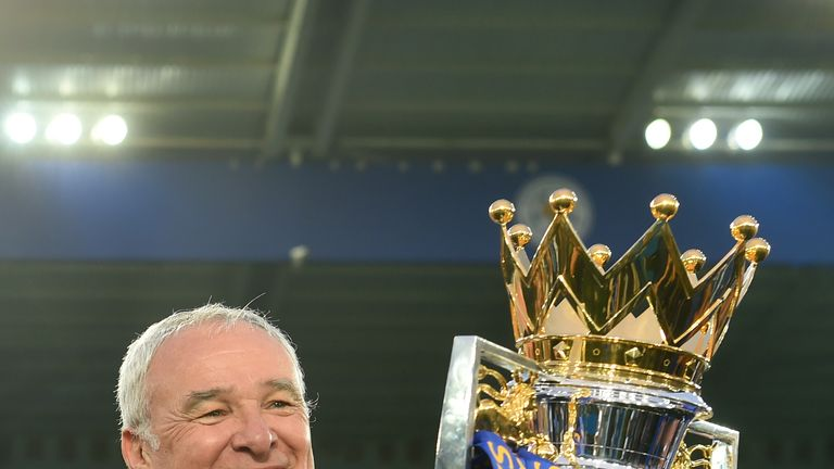 Ranieri steered Leicester to Premier League glory in 2015-16
