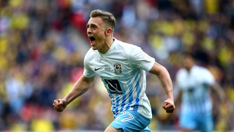George Thomas scored the winner for Coventry in the EFL Trophy final