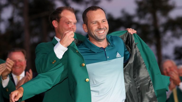 Garcia was presented the jacket by Danny Willett