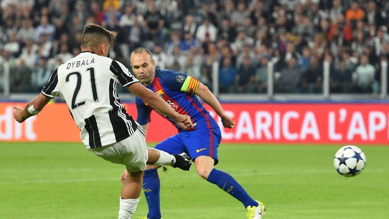 Juventus' forward Dybala scored twice in the Champions League tie