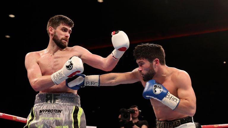 Rocky Fielding won the British super-middleweight title against John Ryder