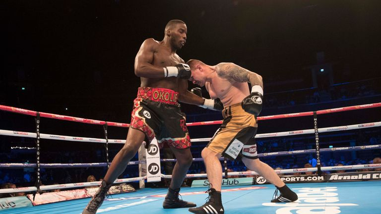 Okoloie's bodyshot caught Rusiewicz coming forward