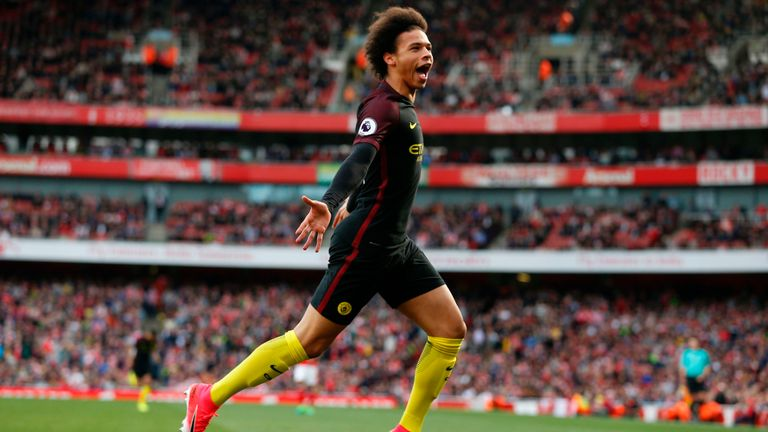 Manchester City's midfielder Leroy Sane