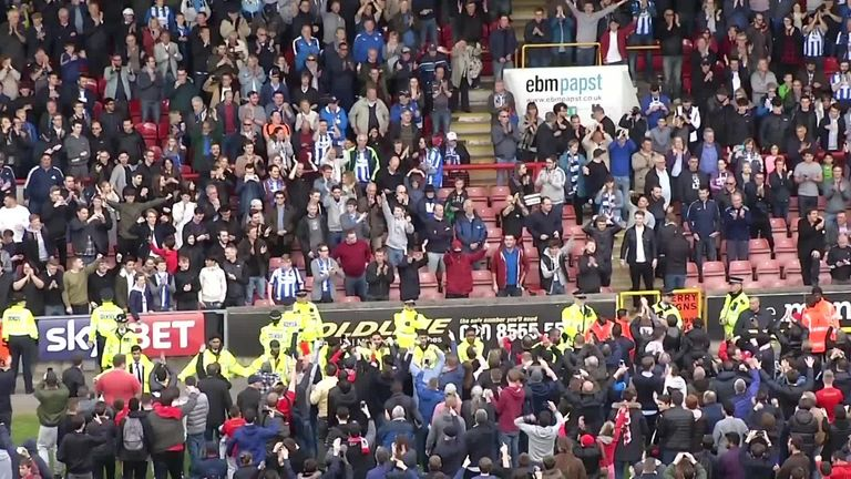 Leyton Orient supporters delayed their League Two game against Colchester on Saturday