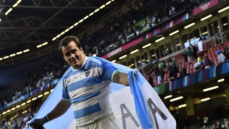 Ayerza won a World Cup bronze medal with Argentina in 2007 and also helped the Pumas to the last four in 2015
