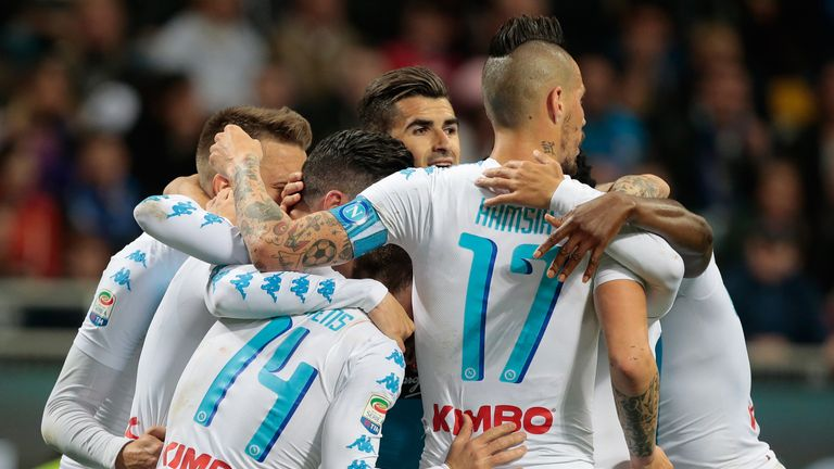 Jose Callejon fired Napoli to victory at Inter