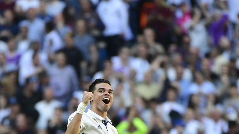 Pepe has won three La Liga titles and three Champions League crowns with Real Madrid