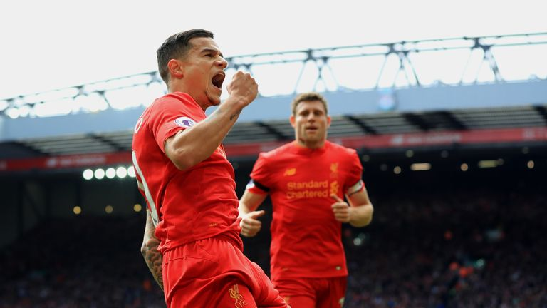 Philippe Coutinho scored for Liverpool in their Merseyside derby win last season