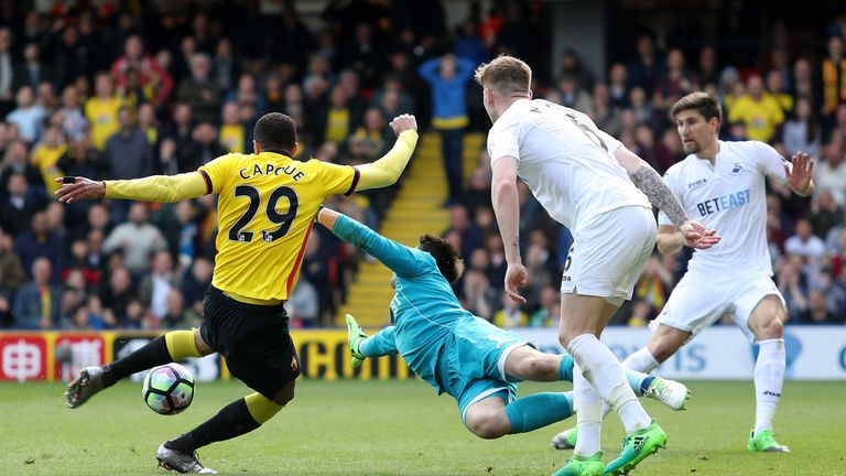 Etienne Capoue opened the scoring for Watford.