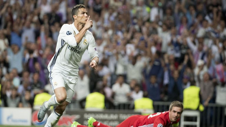 Cristiano Ronaldo is the first player to reach 100 Champions League goals