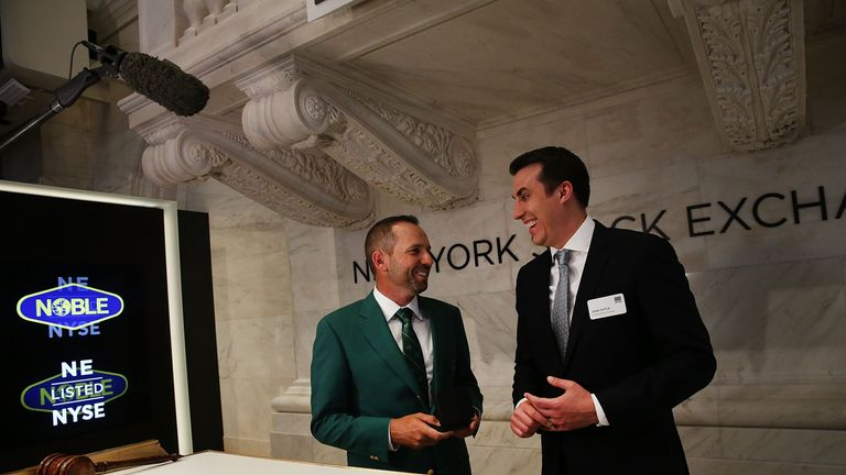 Sergio Garcia took in a visit to the New York Stock Exchange