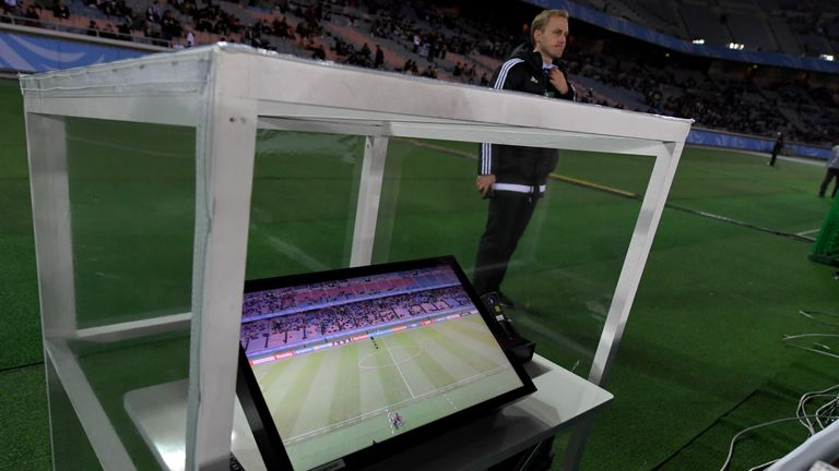 The video assistant referee system will be in use for Arsenal's Carabao Cup semi-final with Chelsea