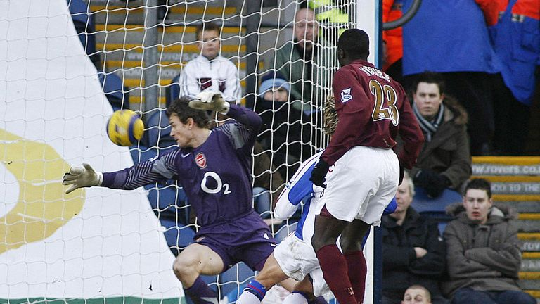 Arsenal lost to Blackburn in February 2006 to leave their top-four hopes at risk