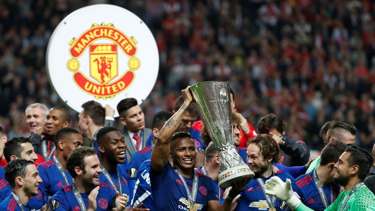 Valencia captained United to Europa League glory on Wednesday