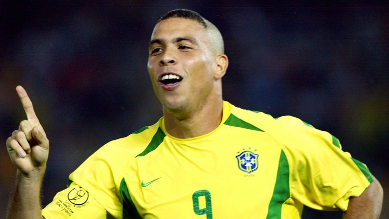 Ronaldo went to the World Cup with Brazil in 1994 as a 17-year-old, before winning it eight years later