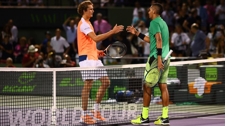 Zverev (L) and Kyrgios are two of the most exciting and talented players on tour