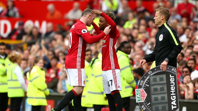 Angel Gomes replaced Wayne Rooney to be United's youngest debutant since the 1950s
